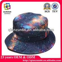 Fashion galaxy design custom cotton mens bucket hats