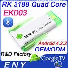 Dual wifi antenna Android 4.2.2 RK3188 quad core mini pc mini usb bluetooth dongle