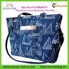 Custom Extra Large Capacity Eco-friendly Navy Blue Canvas Weekender Travel Bag