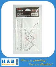 customized 4PC plastic ruler set