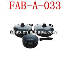 Aluminum Alloy Aluminum Pans And Pots With Glass Lid