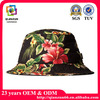 2015 New product fashion quality cotton floral printing bucket hat