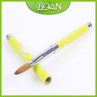 2014 Special Design Colorful Metal Handle Pure Acrylic Kolinsky Brush