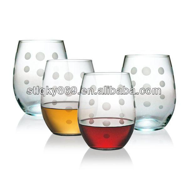 Fournisseur de la chine de haute qualit en verre de vin for Verre sans pied
