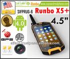 SIFPRUG-6 Runbo X5+ Waterproof Mobile Phone 3G Android Phone GPS Rugged Dustproof, Shockproof