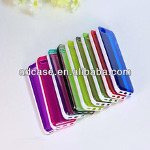 2014 hot selling personalized TPU cell mobile phone case for iphone 5c with plastic bumper