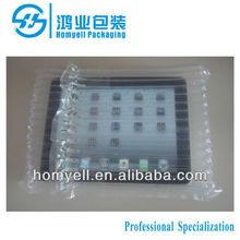 plastic column airbag packaging for iPad/air pouch packaging/air cushion bag