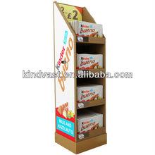 Kinder Bueno chocolate cardboard floor display rack