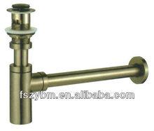 antique brass(metal) basin bottle trap