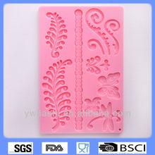 leaf shape silicon molds, cake decoration/moldes de chocolate,lace molds