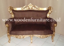 French Style Living Room Sofa Antique Reproduction Chair Mahogany Painted Living Room Furniture European Home Furniture