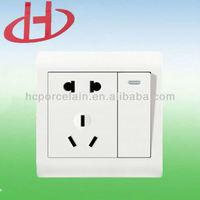 British type wall switch,5 pole socket+1 gang wall switch and socket