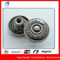 yx4874 de alta calidad de la moda de aleación de zinc metal jeans botón