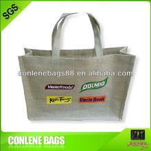 Nature jute or cotton fabric shopping bag