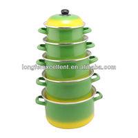Best Selling Products Turkey Porcelain Enamel Cookware Sets