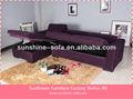 ajustable seccional sofá cama reversible con chaise y almacenamiento subde púrpura