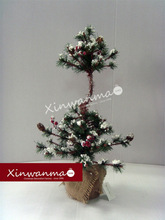 24 inch Snowdrift Decorated Sections Artificial Christmas tree