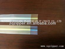 Pp pvc à glissière transparent