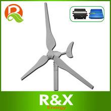 50w de viento generador de turbina. Se combinan con el viento del controlador y el inversor.