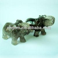 gemstone craft shaped elephant for home decor