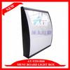 Iron curved kfc light box,100% good quality single sided 60*50cm