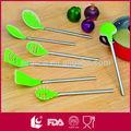 7 unids caliente de la venta de silicona utensilios de cocina con mango hueco