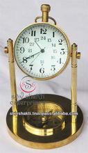 Desktop Stand Clock , Nautical Brass Desktop Clock