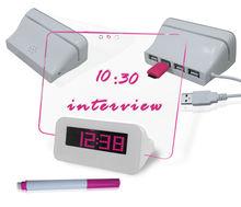 LED desk digital alarm clock with memo board