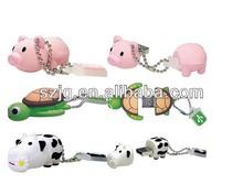 Lovely Christmas Gift USB Flash Drive,Animal Shape USB Flash Drive with Keychain