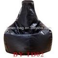 couro do pvc lágrima forma de gota do saco de feijão sofá de canto para uso interno ou externo