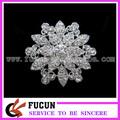 ronda de diamantes de imitación broche pines para la boda
