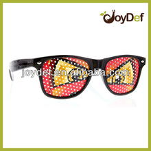 Fun Party Pin Hole Wayfarer Sunglasses Cartoon Eye Design