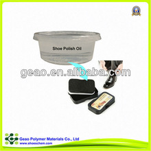 widly use leather shining silicon oil on the shoe polish sponge in fluid appearance