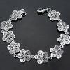 Wholesale Jewelry Cute Flower Sterling Silver Bracelet for Lady BSS-033