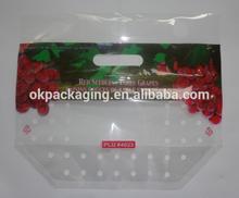 Plastic grape packing bags/ fresh grape packaging bag