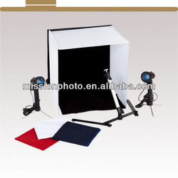 photo studio 40cm with Four Infinity Backgrounds and Integral Rigid Carrying Case for Product Photography