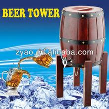 popular Wooden Beer Dispenser/ 3.0L Oak Wine Barrel/ Bar Wooden beer tower