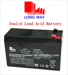 LONGWAY rechargeable sealed lead acid battery 12V 7ah