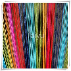 Beautiful cafe decoration line curtain