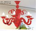 Cristal de lámpara de araña de color rojo