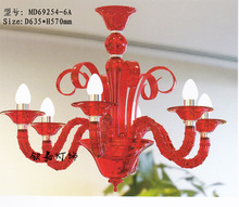 red color crystal chandelier