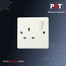 UK Type 13A 1 Gang Pin Switched Socket Outlet ,Single Pole