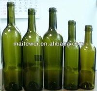 red glass wine bottles