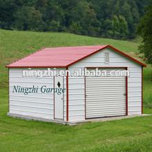 2-car-garage-double-doors-white Garage/Garage Buildings/Metal Garage Kits