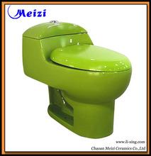 Ceramic Green color Bathroom toilet commode