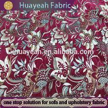 Flower design sofa fabric upholstery chenille fabric
