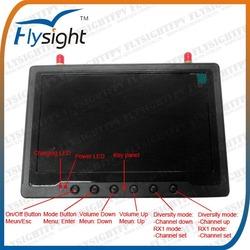A001 Flysight black pearl 7inch FPV HDMI Monitor dual 5.8Ghz diversity 32ch RX for DJI phantom 2 vision