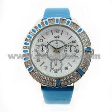 delicate ladies big dial watch diamond case quartz watches