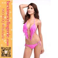wholesale hot sale trendy colorful strap tassels miduo swimwear