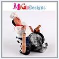 fábrica de la fabricación artificial de regalo del oem diseño del polyresin decoración chef de cocina para